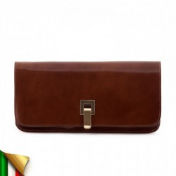 Borsa clutch, Kim Marrone, in pelle lucida
