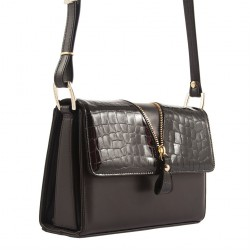 Shoulder bag, Venerina, Brown, leather