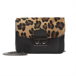 Bag clutch, Raffaella Leopard leather