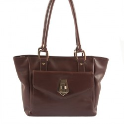 Hand bag, Lisetta Brown, leather