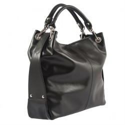 Hand bag, Mendi Black, leather