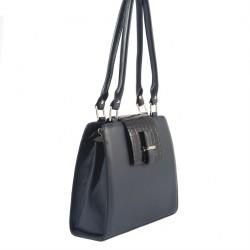 Handtasche, Orianna Blau, leder