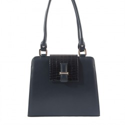 Hand bag, Orianna, Blue, leather