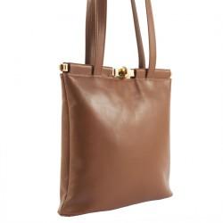 Shoulder bag, Tina Beige, leather