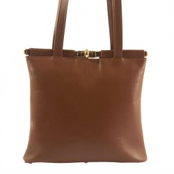 Shoulder bag, Tina Beige, leather