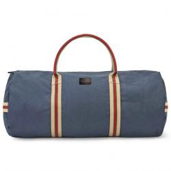 Hand bag, Hermes Blue fabric