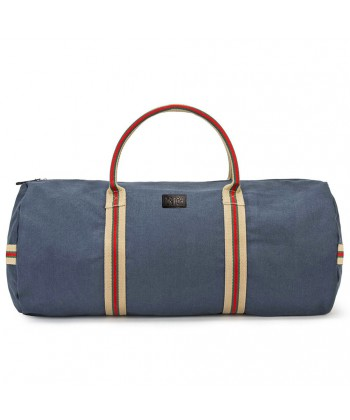 Hand bag, Hermes Blue fabric