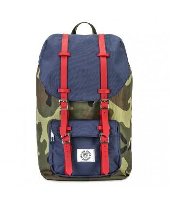 Tasche, rucksack, Cecco Blau, stoff