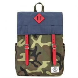 Bolsa mochila, Donatella Azul, tela