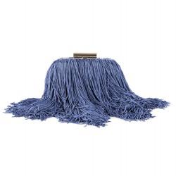 Bolsa de embrague, Cynthia Azul, satén