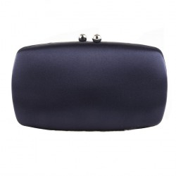 Bag clutch, Marzia Blue, satin