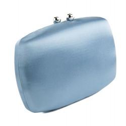Bolsa de embrague, Marzia Azul, satén