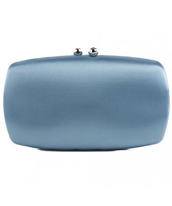 Bag clutch, Marzia Blue, satin