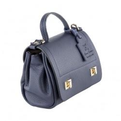 Shoulder bag, Gio, Blue, leather