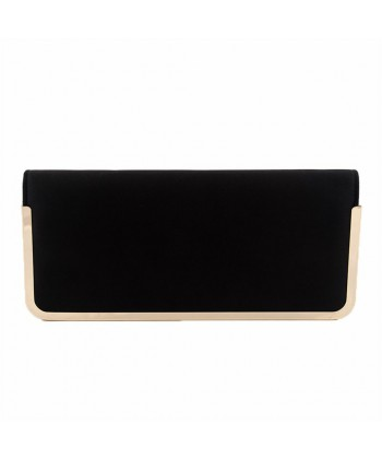 Borsa clutch, Shelba Nera, in raso