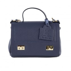Shoulder bag, Gio, Blue, leather