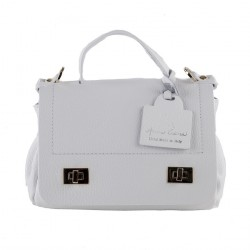 Shoulder bag, Gio, White, leather