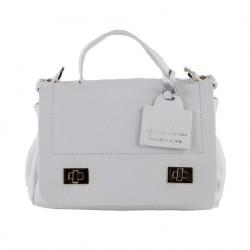 Shoulder bag, Gio, White, leather