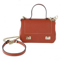 Shoulder bag, Gio Red, leather