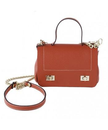 Shoulder bag, Gio Red, leather