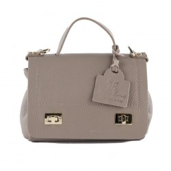 Shoulder bag, Thu, Beige, leather