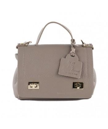 Shoulder bag, Thu, Beige, leather