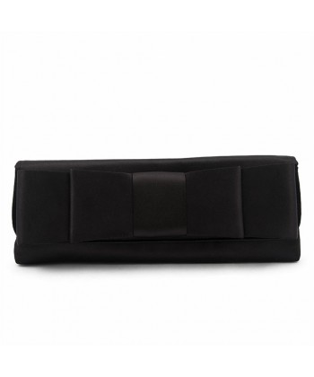 Bag clutch, Hester Black, in satin with bow
