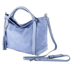 Handtasche, Lela d ' Azur, leder