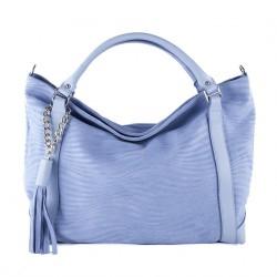 Hand bag, Lela d'azur, leather