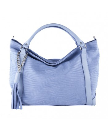 Hand bag, Lela d'azur, leather
