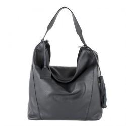 Hand bag, Fulvia Black leather