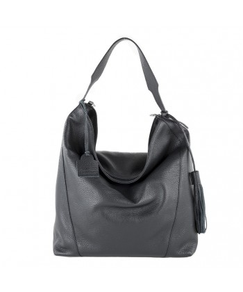 Hand bag, Fulvia Black leather