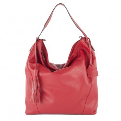 Hand bag, Fulvia Red, leather