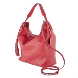 Handtasche, Fulvia Rot, leder