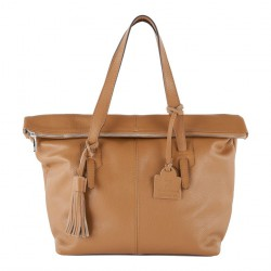 Hand bag, Flavia Brown, leather
