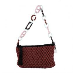 Bolsa de ombreiro, Gloria Vermello, algodón