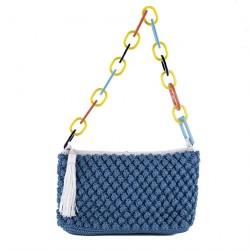 Bolsa de ombreiro, Gloria Azul, algodón