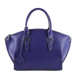 Bolsa de ombreiro, Alyssa de coiro Azul