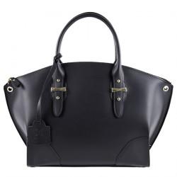 Bolsa de ombreiro, Alyssa Negro de coiro