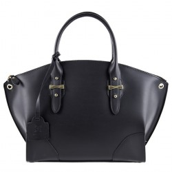 Shoulder bag, Alyssa Black leather