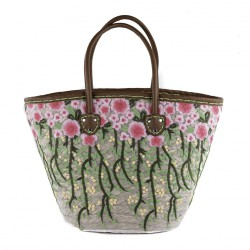 Handtasche, Consuelo Grün, stroh
