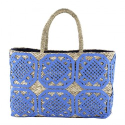 Hand bag, Marella Blue, straw