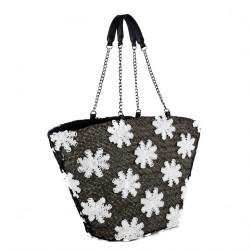 Handtasche, Ketti Braun, stroh