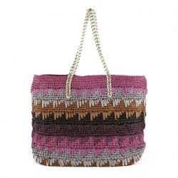 Bolsa de ombreiro, Luciana Fúcsia, algodón