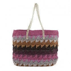 Shoulder bag, Luciana Fuchsia, cotton