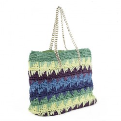 Shoulder bag, Luciana Verde, cotton