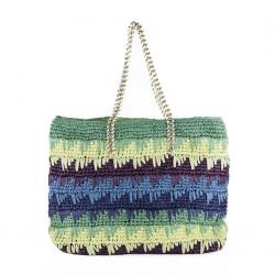 Bolso de hombro, Luciana Verde, algodón