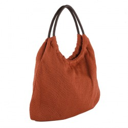 Bolso de hombro, Mili Rojo, algodón
