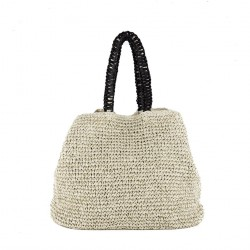 Shoulder bag, Leonarda Beige, cotton