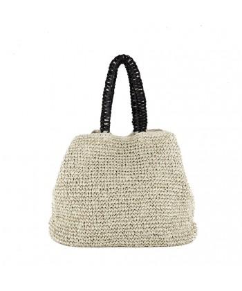 Shoulder bag, Leonarda Beige, cotton